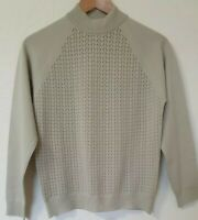 True Vintage Trevira Sage Green Thin Knit Jumper Top Size 10 12 Littlewoods