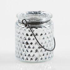 "Eastland Candle Holder Hanging Glass Mercury Patterned 3.5"" Set of 12 Home Decor"