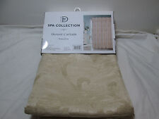 "New Dainty Home DH Spa Collection Shower Curtain 70""x72"" ~ VIENNA Champagne NIP"