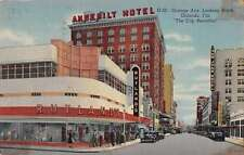 Orlando Florida north on Orange Ave Angebilt Hotel linen antique pc Z19506