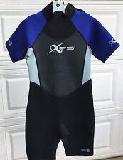 New listing Xps Youth Wet Suit Blue Black Gray Zippered Sz L Short Unisex Bass Pro Inc