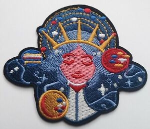 Planets Gaia Mother Earth Gaea Space Peace Embroidered Patch Iron On Quality