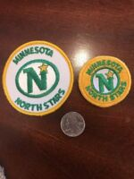 (2) Minnesota North Stars Vintage Embroidered Sew patches Patch Lot NHL HOCKEY