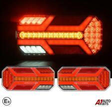 Led Neon Rear Dynamic Indicator Tail Lights Truck Trailer 7 Functions 12V 24V E9