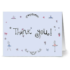 24 Note Cards - Thank You on Stage - Plum Purple Envs