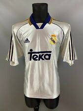 REAL MADRID 1998/2000 HOME FOOTBALL SOCCER JERSEY ADIDAS ADULT SIZE L