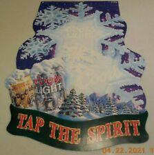 Coors Snowflake Tap The Winter Spirit Poster Advertising Display 1997 Vintage