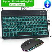 RGB Wireless Keyboard And Mouse Mini Bluetooth Keyboard Mouse For Phone Computer