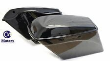 "No Cut Out 4.5"" Vivid Black Extended Saddlebags for Harley FLH FLT 2014-2017"