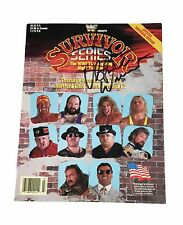 WWE ULTIMATE WARRIOR HAND SIGNED AUTOGRAPHED SURVIVOR SERIES 90 PROGRAM WITH COA