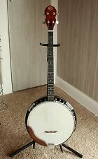 Kay 4 String Banjo Made in Korea w/Case Carved Eagle Reverse