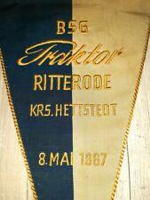 Orig. Übergabe Wimpel 1967 gestickt BSG Traktor Ritterode Hettstedt DDR Fussball
