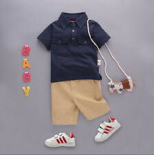 Boys clothing set, T-shirt & trousers included.