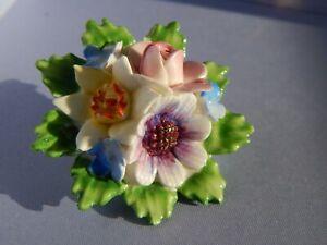 Flower broochFabric flower broochHandmade women broochKanzashi broochBrooch pinWhite pink flower pin Hortensia flower brooch