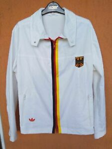 Vintage 70s Adidas West Germany Track Jacket Olympics German National Team M/L