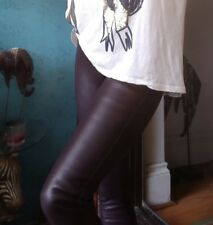 Witchery Sheep Leather Pants/Leggings Maroon Sz 6