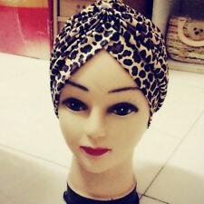 P lady Stretchy Turban Head Wrap Band Chemo Bandana Hijab Pleated Indian Cap Hat