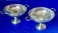 Pearce & Sons, London, Antique Art Deco Pair of British Sterling Silver Bowls