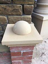 "Cast stone pier caps 1 brick pillar 225mm X 225mm + 6"" Half Ball"