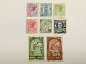 old stamps  MONACO     x  8