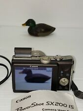 Canon PowerShot PowerShot SX200 IS 12.1MP Digital Camera  with wall charger