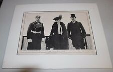 1902 Matted/Sealed Prince Henry Of Prussia President Teddy Roosevelt Pullout