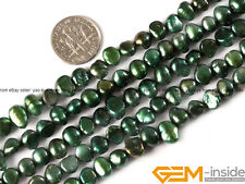 """6-7mm Freeform Freshwater Pearl Beads For Jewelry Making 13"""" Assorted Colors"""