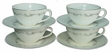 """ROYAL DOULTON china CORONET H4947 Cup & Saucer - Set of Four (4) @ 2 1/8"""""""