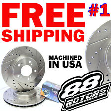 300ZX 26MM 240SX REDRILLED 4 LUG Drilled & Slotted Brake Rotors Pads Conversion