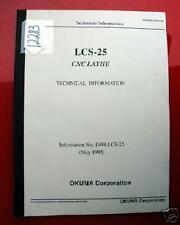 Okuma Lcs-25 Cnc Lathe Technical Information: Info No. 1948-Lcs-25 (Inv.12283)