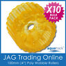 """10 x 100mm 4"""" YELLOW WOBBLE ROLLERS -SOLID POLYURETHANE BOAT TRAILER NON-MARKING"""