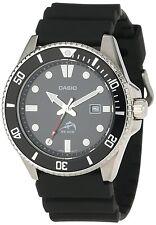 Casio MDV106-1A, Men's Analog Watch, Black Resin Band, Date, 200 Meter WR
