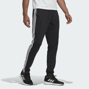 Adidas GK8995 Pantaloni Uomo Cotone  Essentials 3-Stripes Nero