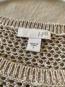 j jill open weave knit top small Excellent Linen/cotton.very Pretty