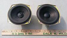 "7Mm71 Pair Of Speakers From Panasonic: 4"" Nominal, Samco Ras12P12-G, 6 Ohm 15 Wt"