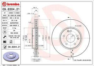 BREMBO Brake Rotor 09.8304.21 Mercedes-Benz CLC/CLK E SLK PAIR 300MM A2034210512