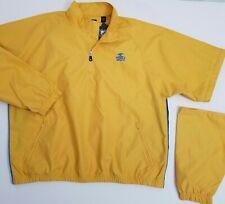Pebble Beach Golf Jacket Mens XL Wind Rain 1/4 Zip Off L/S S/S LOGO Gold New