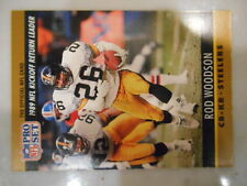 1990 NFL Pro Set Rod Woodson Pittsburgh Steelers '89 KR Leader #16 Football Card