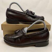 SAS Men's Black Leather Slip On Moc Toe Kiltie Tassel Loafers Shoes 6 M 475648