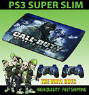 PLAYSTATION PS3 SUPER SLIM CALL OF DUTY GHOSTS 002 SKULL MASK GROUP SKIN STICKER