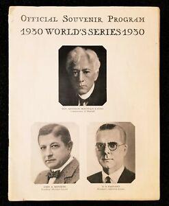1930 World Series GM 2 Program Scorecard Philadelphia A's Cardinals Shibe Park