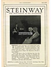 1920 Steinway Piano Instrument Of The Immortals Vtg Print Ad