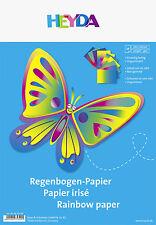 10 Blatt Regenbogenpapier von HEYDA Bastelpapier in Soft-Mappe Papier Basteln