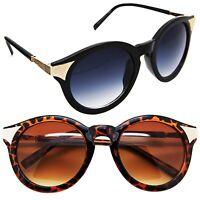 New Designer Round Oval Sunglasses Vintage Frame Retro Style Glasses Women