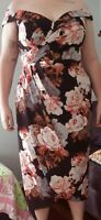 City Chic Size M BNWT 'Moody Rosa' Dress Vintage Neckline Floral