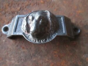 Vintage Cast Iron DOG Drawer Pull Handle