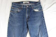 Levi 505 Straight Leg Zipper Fly Faded Denim Jeans Tag 33x30 Measure 32x29.5