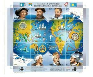 Palau - 1992 - Christopher Columbus - Sheet of Twenty - MNH