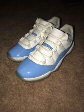 """2017 Nike Air Jordan 11 Retro Low """"Carolina"""" Sz 10.5 (L016) 528895-106"""