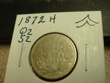 1872 H - Canada 25 cent - Circulated Canadian quarter